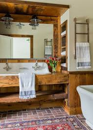 Rustic Farmhouse Bathroom - 34 rustic bathroom vanities and cabinets for a cozy touch digsdigs