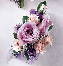 pink corsage lavender pink enchantment corsage spray tea roses carithers