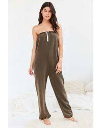 sweat suit jumpsuit lyst out from sweatsuit jumpsuit in gray