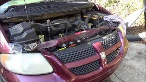 how to replace the radiator in a dodge caravan youtube