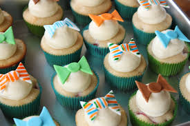 crave indulge satisfy bow tie cupcake toppers