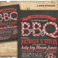 couples baby shower baby q baby shower invitation bbq baby from 2birdstudios on