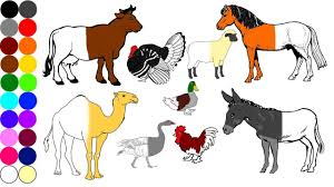 farm animals coloring pages name and sound learning animal for