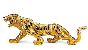 resin tiger figurine animal sign of the zodiac feng shui and