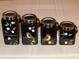 kitchen canisters black unique kitchen canisters glass