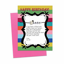 dog birthday card with message bracelet gift free shipping
