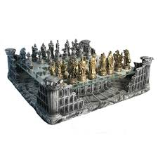 Ancient Chess Set Pewter U0026 Glass Coliseum Chess Set