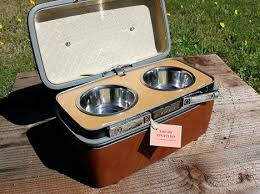 Upcycled Products - old tvs suitcases and vcrs upcycled into vintage pet products