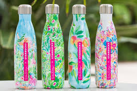 starbucks u0026 lilly pulitzer release limited edition s u0027well bottles
