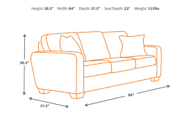 average height of couch seat alenya sofa ashley furniture homestore