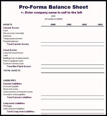 Pro Forma Balance Sheet Template 9 Pro Forma Financial Statements Template Template Update234