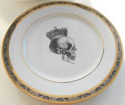 thanksgiving dinner sets gold and black skull wedding very steampunk