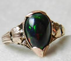 black opal engagement rings antique black opal ring opal engagement ring 18k