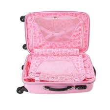 kitty zip travel carry bag suitcase heart pink small