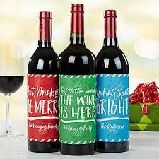 personalized cheer wine bottle labels