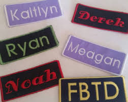 custom embroidered patch etsy