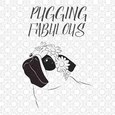 Pug Home Decor Free Pug Dog Clip Art Image Pug Dog Silhouette With The Word