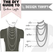 necklace neck sizes images Diy necklace length guide note chainmaille and jewelry ideas jpg