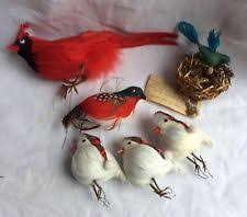 feathered bird ornaments ebay