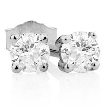 diamond earrings for sale classic stud earrings with 1 5 carat tw of diamonds in 10kt white gold