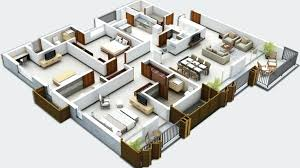 3 Bedrooms House Plans Designs 3 Bedroom House Plans 3d Beautiful Bedroom House Designs And Floor