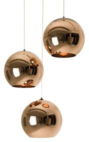 copper round tom dixon pendelleuchte