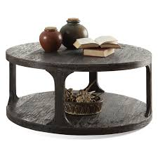 Small Round Coffee Table by Riverside Bellagio Round Cocktail Table Weathered Worn Black