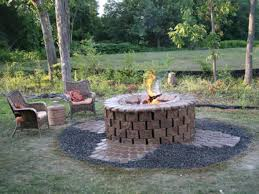 round patio stone outdoor stone fire pit fire pit grill ideas