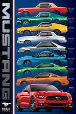 ford mustang history timeline mustang poster ebay