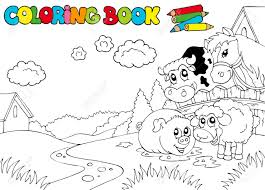 farm animal coloring book farm animals clipart images u0026 stock pictures royalty free farm