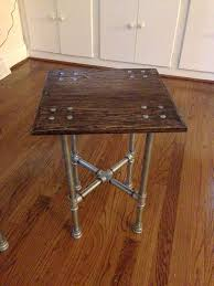 Making Wooden End Table by Best 25 Iron Pipe Ideas On Pinterest Iron Pipe Shelves 2x4
