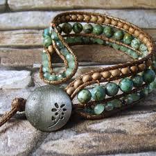 leather cuff wrap bracelet images Western boho turquoise beaded leather from arileljewelry on etsy jpg