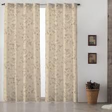 Vintage Eyelet Curtains Vintage Grand Floral Grey Lined Eyelet Curtains