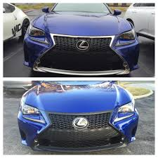 lexus rc 350 blacked out wrapping front grill matte black pics lexus rc350 u0026 rcf forum