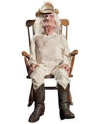 Old Man In Rocking Chair Life Like Animated Rocking Grandpa Halloween Prop Old Man Rocking