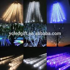 led meteor shower tube lights snowfall rain tree garden festival decorate light mini led strip led