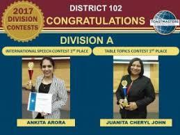 Table Topics Toastmasters 2017 Divisions U0027 International Speech U0026 Table Topics Contests