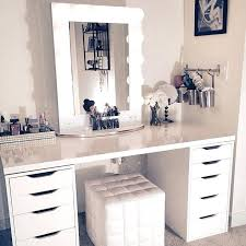 Small Makeup Desk White Makeup Vanity With Lights White Table Top Mirror Turns Desk