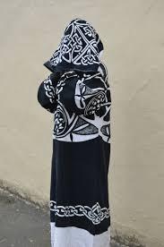 pagan ceremonial robes burning tribal boho festival clothing black white