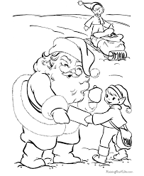 free santa elf christmas coloring pages