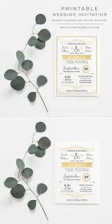 gold rustic diy wedding invitation template mountainmodernlife com
