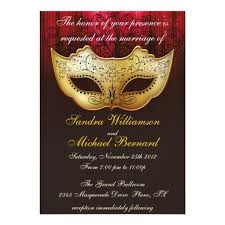 masquerade wedding invitations masquerade wedding celebration fancy invitation zazzle