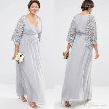 silver plus size bridesmaid dresses silver gray lace chiffon bohemian plus size bridesmaid dresses