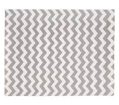 Pottery Barn Zig Zag Rug Chevron Wool Rug 3x5 Ft Gray Pottery Barn