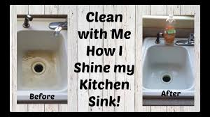 how i shine my porcelain sink clean with me youtube