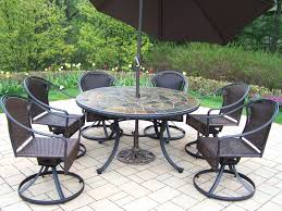 Agio Patio Set Stone Top Patio Furniture Set Agio Round Table 23888 Gallery