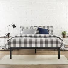 amazon com zinus modern studio 14 inch platform 1500 metal bed