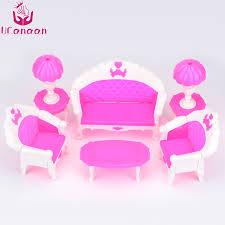canapé enfants ucanaan 6 pcs enfants jouets dollhouse meubles salon canapé en