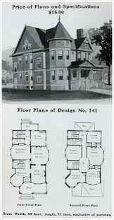 Queen Anne Style House Plans 214 Best Vintage House Plans 1900s Images On Pinterest Vintage