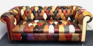 Chesterfield Sofas Ebay by Kaleidoscope Chesterfield Large Sofa Rrp 2495 Patchwork Leather